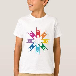 T-shirt Anneau d'arc-en-ciel des humanistes