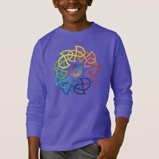 T-shirt Anneaux celtiques de Knotwork d'arc-en-ciel
