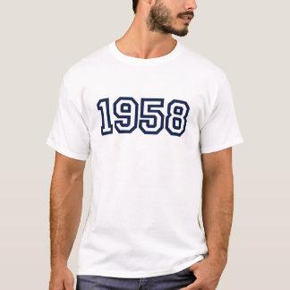 T-shirt année 1958 de naissance