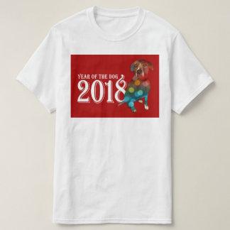 T-shirt Année de la double exposition du chien 2018