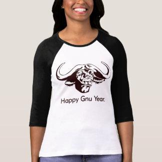 T-shirt Année heureuse de gnou