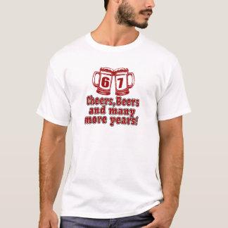 T-shirt Anniversaire de bière de 67 acclamations