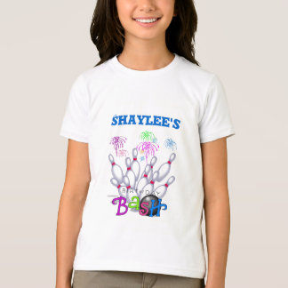 T-shirt Anniversaire de bowling