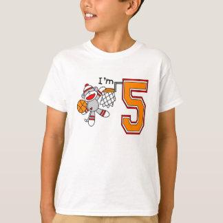 T-shirt Anniversaire de cercles de singe de chaussette