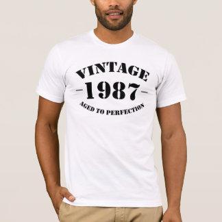 T-shirt Anniversaire du cru 1987 âgé à la perfection