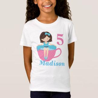 T-Shirt Anniversaire mignon de fille de thé