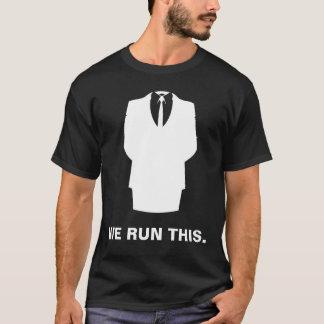 """T-shirt anonyme """"NOUS COURONS CE"""" noir"""