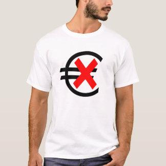 T-shirt Anti euro devise