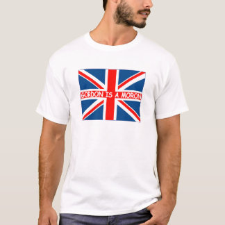 T-shirt Anti Gordon Brown-Gordon est un débile