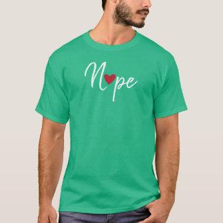 T-shirt Anti Valentines Nope