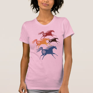 T-shirt antique de chevaux