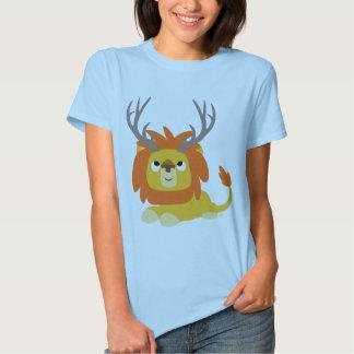 T-shirt Antlered de femme de lion de bande