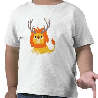 T-shirt Antlered d'enfants de lion de bande