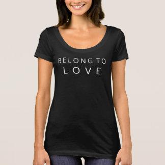 T-shirt Appartenez à la chemise d'amour