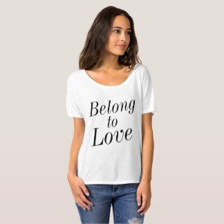T-shirt Appartenez à l'amour (blanc)