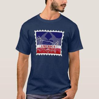 T-shirt appelé de timbre de States Eagle chauve de