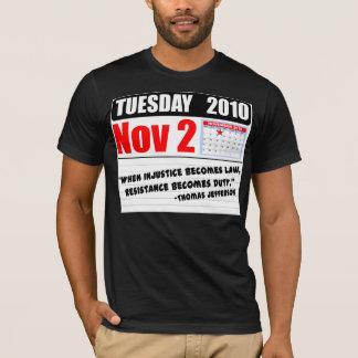 T-shirt Appels de devoir de mardi le 2 novembre 2010 - !