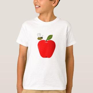 T-shirt Apple et abeille rouges de miel