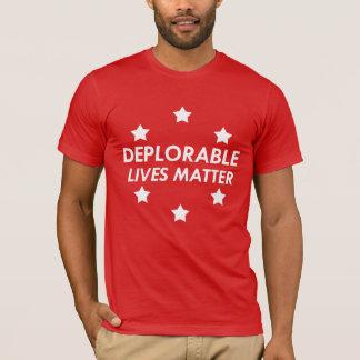 T-shirt Appui Donald Trump - les vies déplorables