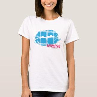 T-shirt Aqua de plaid