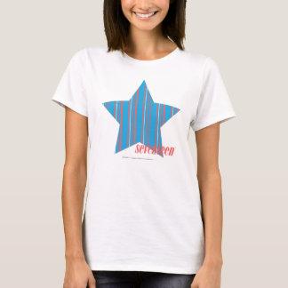 T-shirt Aqua mince 2 de rayures