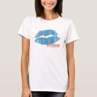 T-shirt Aqua mince de rayures