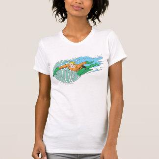T-shirt Aquaman saute à gauche