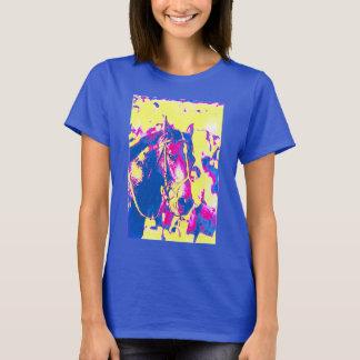 T-shirt Aquarelle de cheval de course de pur sang de