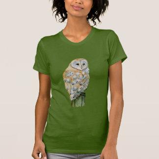 T-shirt Aquarelle de hibou de grange