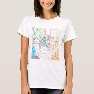 """T-shirt Aquarelle """"ouvrez la cage aux oiseaux"""""""