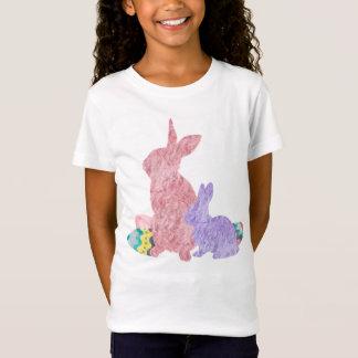 T-Shirt Aquarelle pourpre d'oeuf de pâques de rose velu de