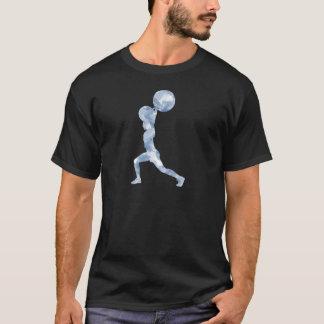 T-shirt Aquarelle propre et secousse dans le bleu