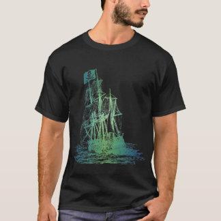 T-shirt aquatique de bateau de pirate