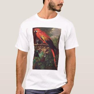 T-shirt Ara d'écarlate dans un paysage (huile sur la