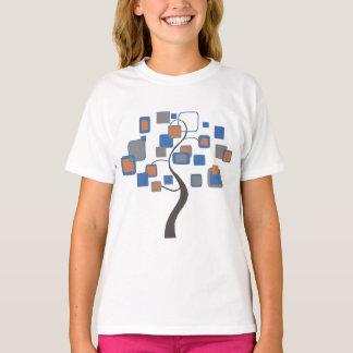 T-shirt Arbre abstrait des chiffres colorés