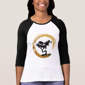 T-shirt Arbre de bonsaïs. Zen Enso Circl. Calligraphie de