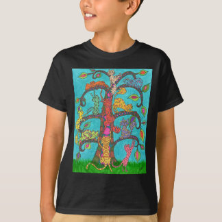 T-shirt Arbre de chat de la vie