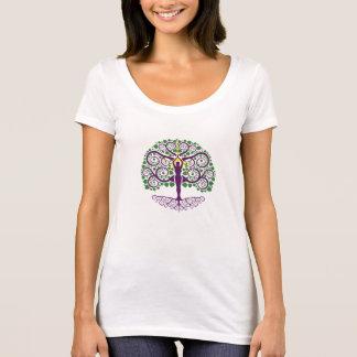 T-shirt Arbre de chemise de Scoop-Cou de la vie