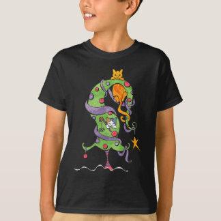 T-shirt Arbre de Kitty - pièce en t foncée