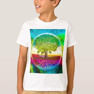 T-shirt Arbre de la vie coloré par arc-en-ciel