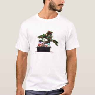 T-shirt Arbre de Noël de bonsaïs