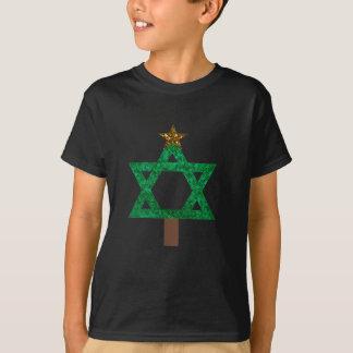 T-shirt arbre de Noël de christmukkah