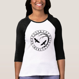 T-shirt Arbre de Yggdrasil de chemise d'équipage de dames