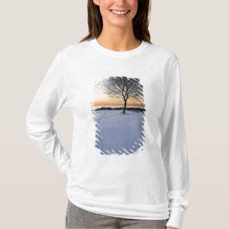 T-shirt Arbre solitaire dans la neige fraîche au nouveau