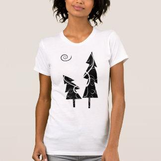 T-shirt arbres de Noël de b&w