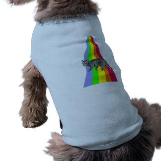 T-shirt Arc-en-ciel aux chats de ciel