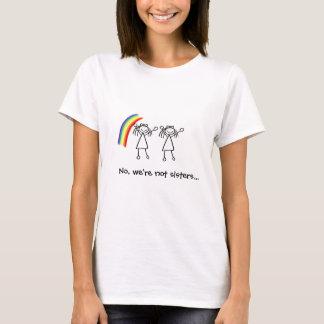 T-shirt arc-en-ciel, bâton-chiffre, bâton-chiffre, non,