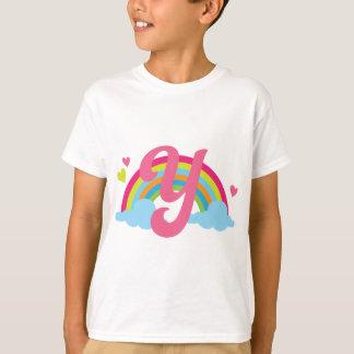 T-shirt Arc-en-ciel d'alphabet de la lettre Y de