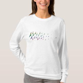T-shirt arc-en-ciel de mouettes