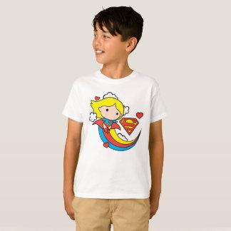 T-shirt Arc-en-ciel de vol de Chibi Supergirl